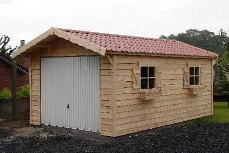 Garage en bois tournai carports en bois sur mesure garage en bois lille garage en sapin - Garage metallique prefabrique belgique ...